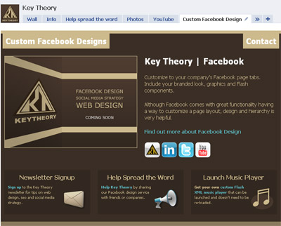 Key Theory Custom Facebook Design