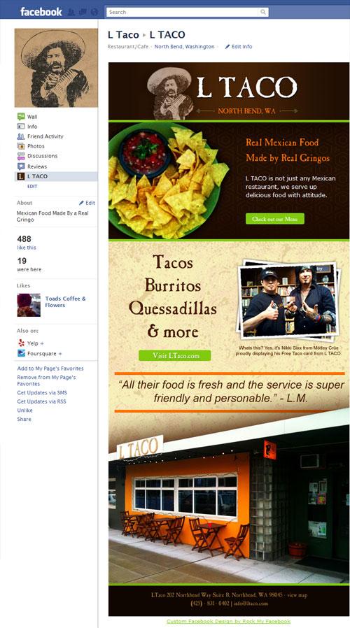 LTaco Custom Facebook Page