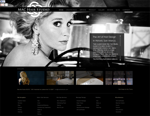 mac-hair-salon-website - Key Theory Web Design