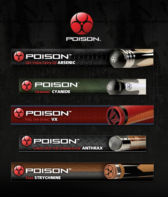 poison web banners